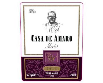 WINE CASA DE AMARO MERLOT 375ML