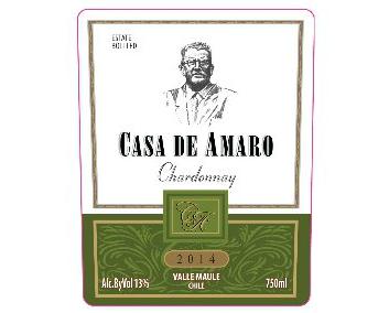 WINE CASA DE AMARO CHARDONNAY 375ML
